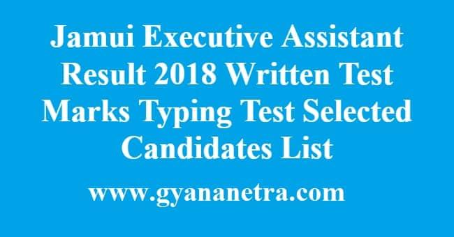 Jamui Executive Assistant Result