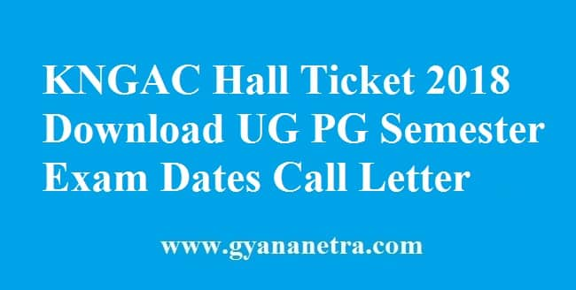 KNGAC Hall Ticket