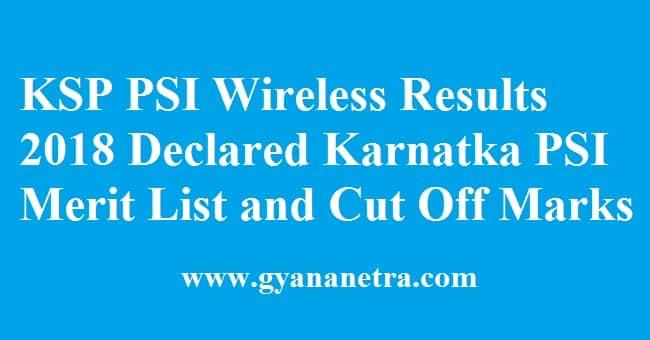 KSP PSI Wireless Results