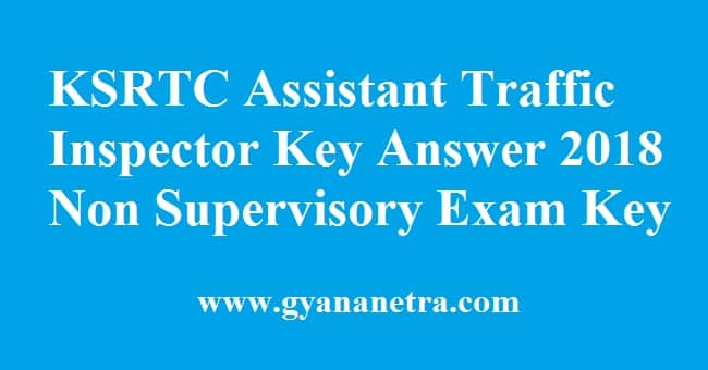 KSRTC Assistant Traffic Inspector Key Answer