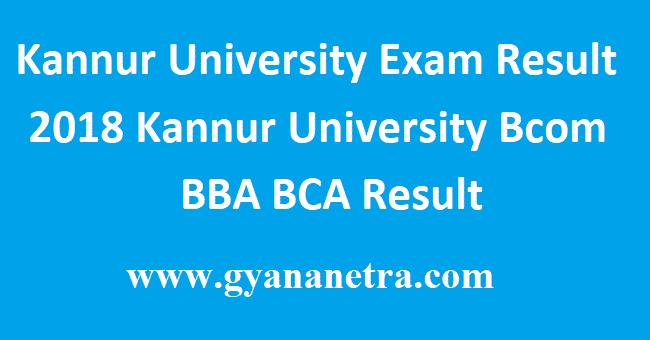 Kannur University Exam Result