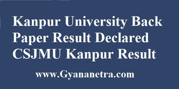 Kanpur University Back Paper Result Check