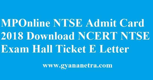 MPOnline NTSE Admit Card