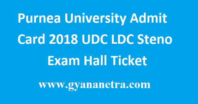 Purnea University Admit Card 2018