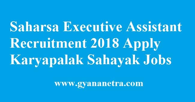 Saharsa Executive Assistant Recruitment