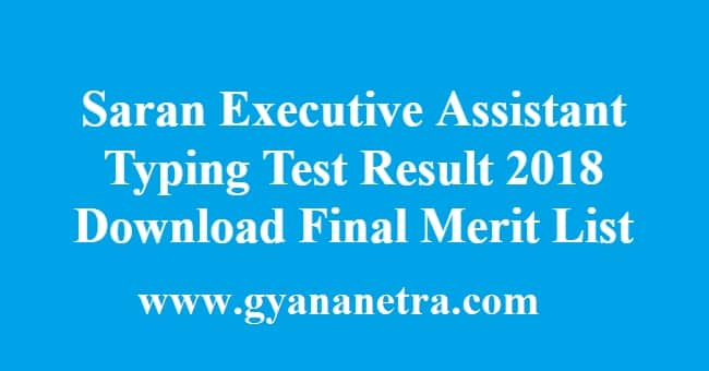 Saran Executive Assistant Typing Test Result