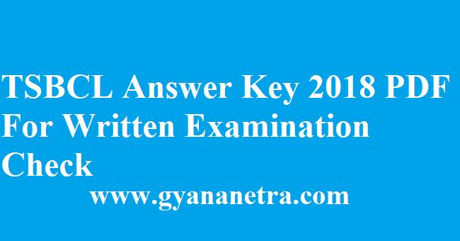 TSBCL Answer Key 2018