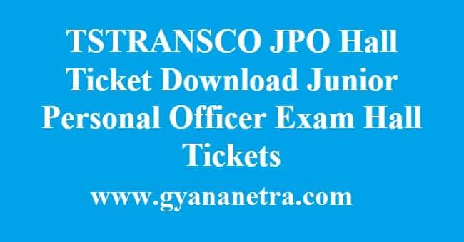TSTRANSCO JPO Hall Ticket Download