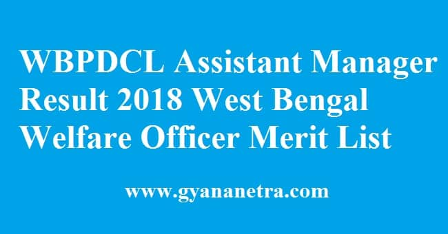 WBPDCL Assistant Manager Result