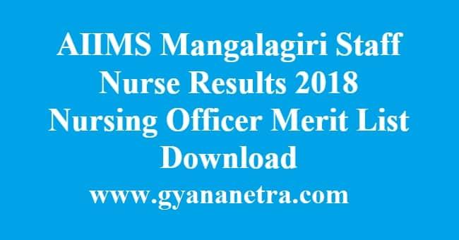 AIIMS Mangalagiri Staff Nurse Results