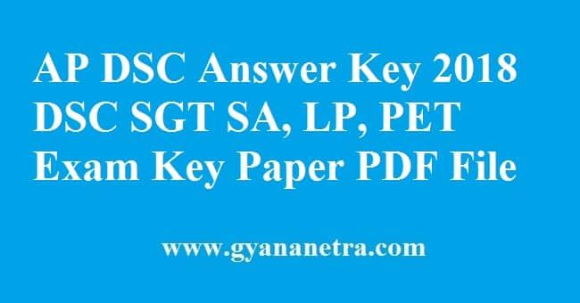 AP DSC Answer Key