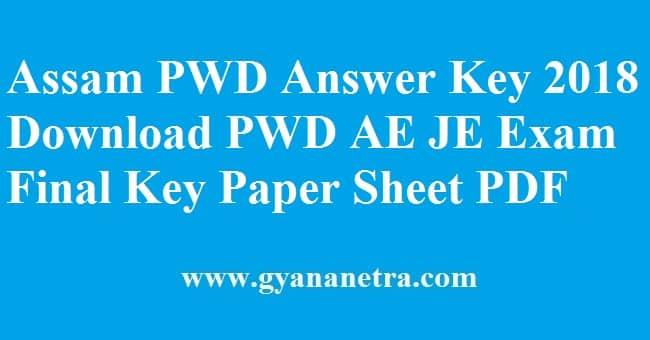 Assam PWD Answer Key