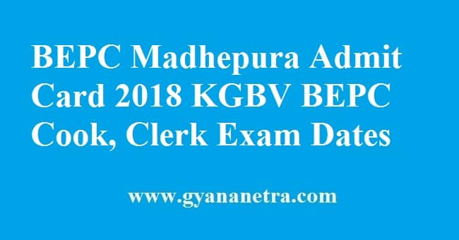 BEPC Madhepura Admit Card