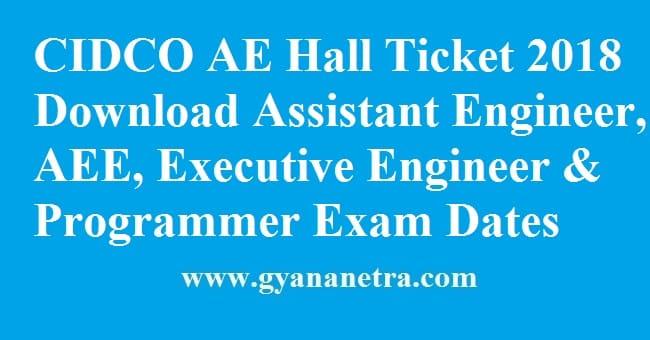 CIDCO AE Hall Ticket