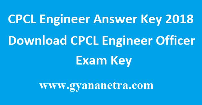CPCL Engineer Answer Key 2018