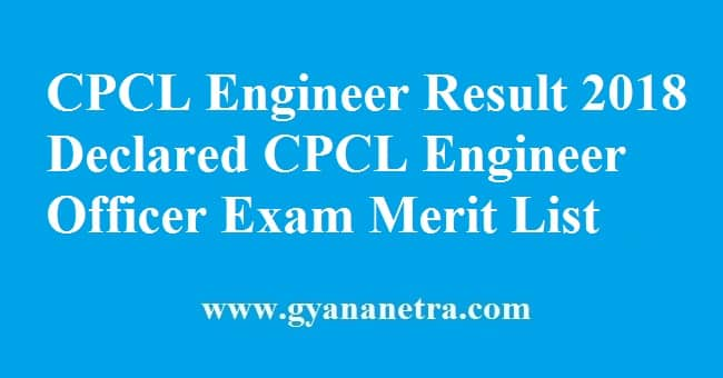CPCL Engineer Result