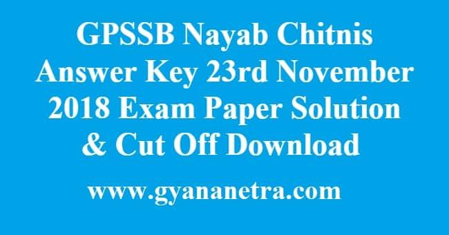 GPSSB Nayab Chitnis Answer Key