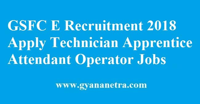 GSFC E Recruitment 2018