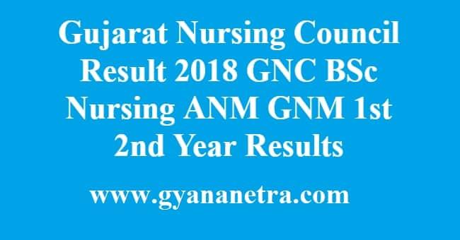 Gujarat Nursing Council Result