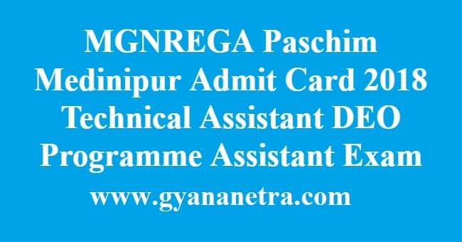 MGNREGA Paschim Medinipur Admit Card