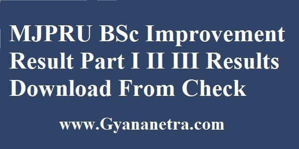 MJPRU BSc Improvement Result Check Online