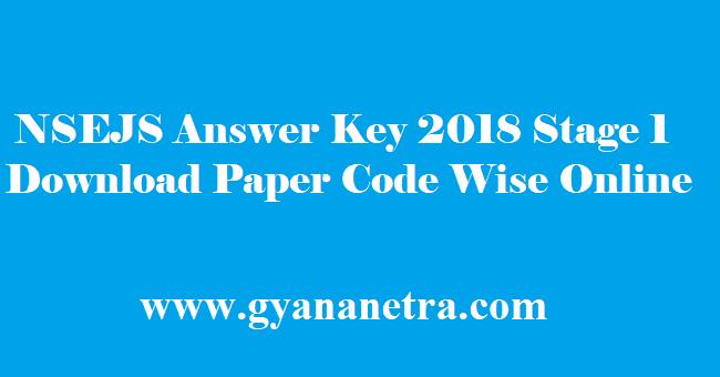 NSEJS Answer Key 2018