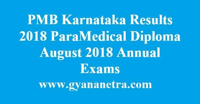 PMB Karnataka Results