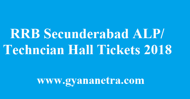 RRB Secunderabad ALP Hall Tickets 2018 Download