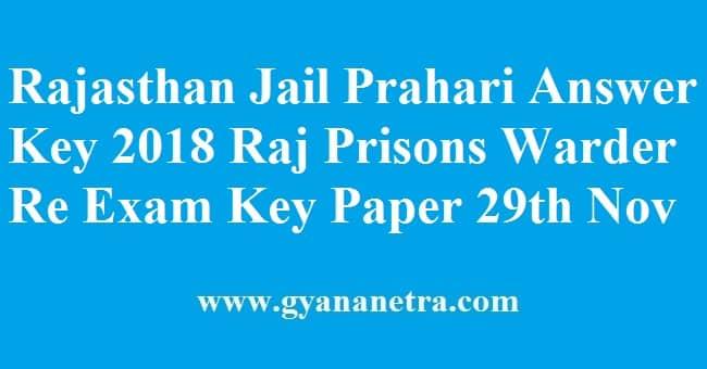 Rajasthan Jail Prahari Answer Key