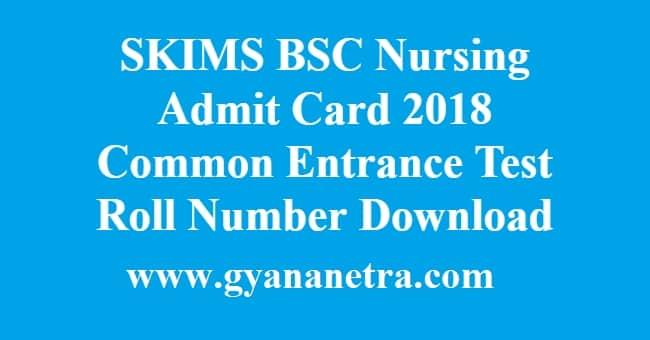 SKIMS BSc Nursing Admit Card