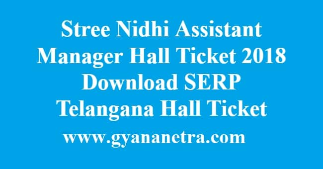 Stree Nidhi Assistant Manager Hall Ticket