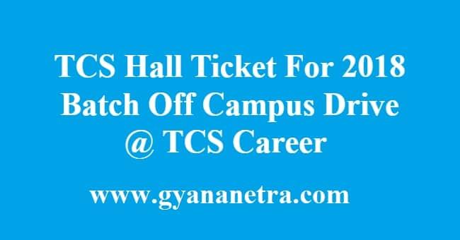 TCS Hall Ticket