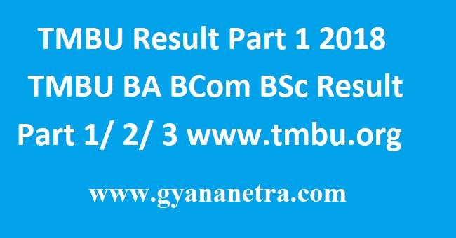 TMBU Result Part 1 2018