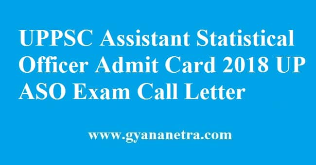 UPPSC Assistant Statistical Officer Admit Card