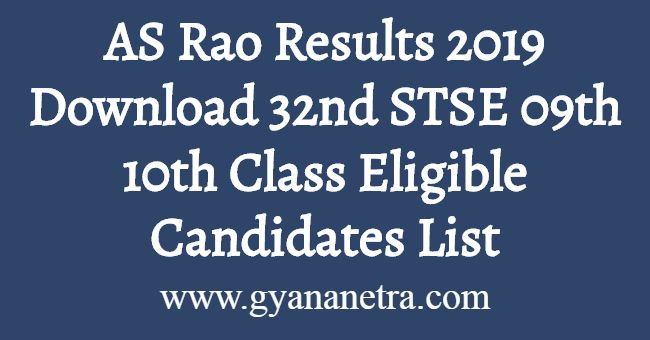 AS Rao Results 2019