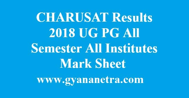 CHARUSAT Results