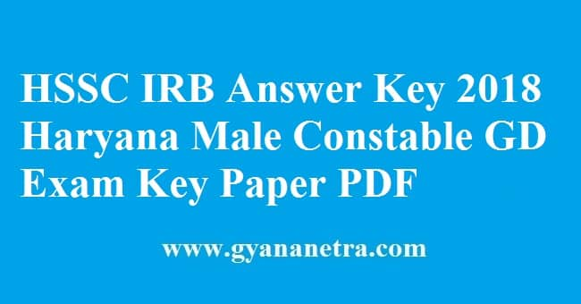 HSSC IRB Answer Key