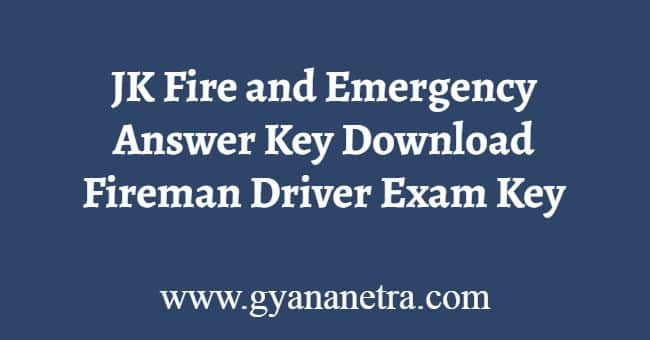 JK Fire and Emergency Answer Key Download