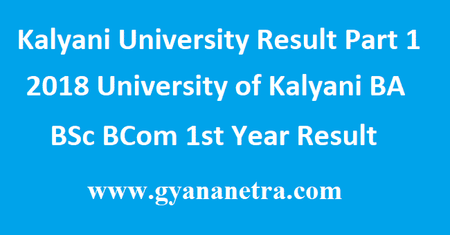 Kalyani University Result Part 1