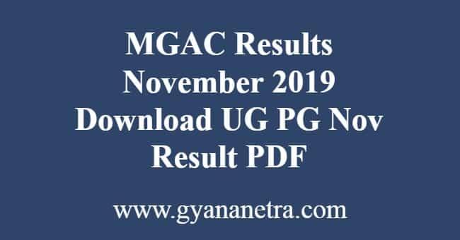 MGAC Results November 2019