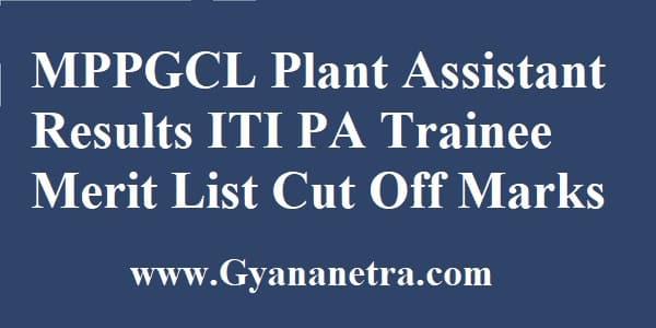 MPPGCL Plant Assistant Result Merit List