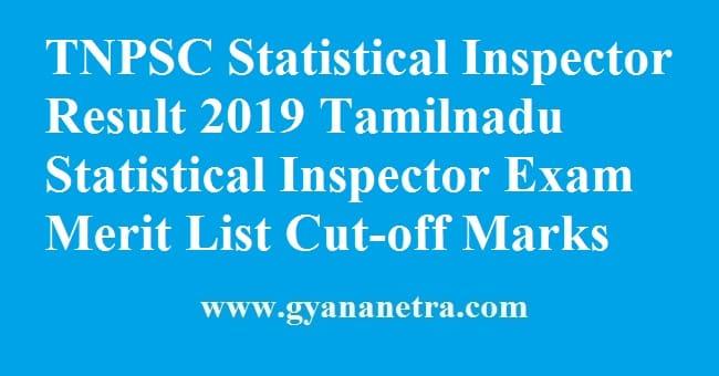 TNPSC Statistical Inspector Result