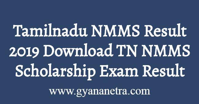 Tamilnadu NMMS Result 2019