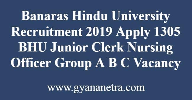 Banaras Hindu University Recruitment