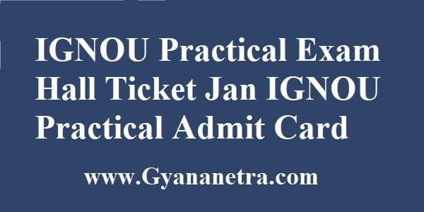 IGNOU Practical Hall Ticket