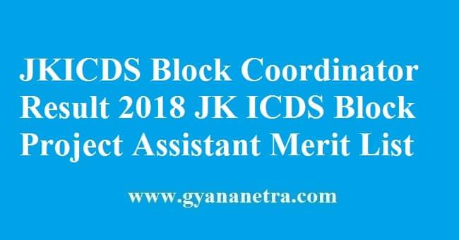 JKICDS Block Coordinator Result