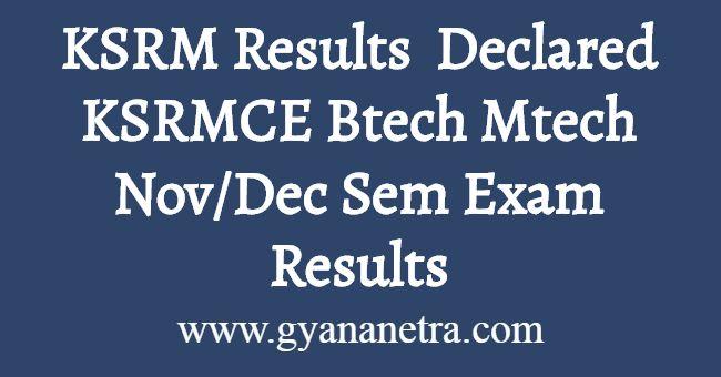 KSRM Results 2019