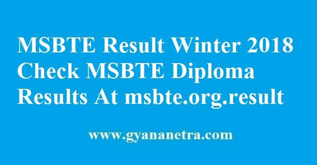 MSBTE Result Winter