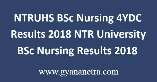 NTRUHS-BSc-Nursing-4YDC-Results-2018