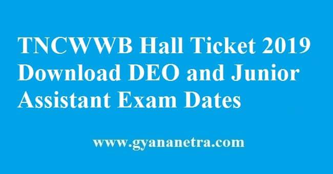 TNCWWB Hall Ticket